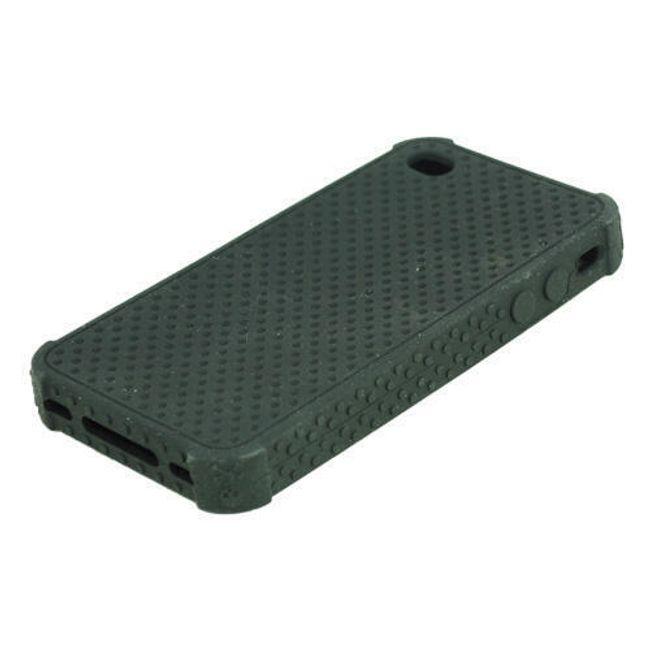 Silikonové ochranné pouzdro pro iPhone 4 a 4S - černé 1