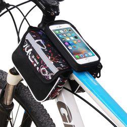 Dwustronna torba na rower z daszkiem do telefonu
