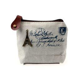 Plátěná taštička na peníze i osobní věci ve vintage stylu