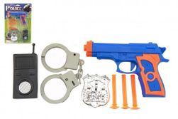 Rendőrségi készlet - pisztoly tapadókorongokhoz - 3 töltény tartozékokkal RM_49005301