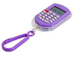 Zegarek cyfrowy z kalkulatorem - breloczek do kluczy