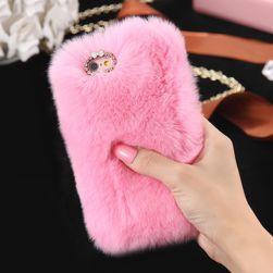 Pluszowe   etui na telefon z kryształkami - więcej kolorów