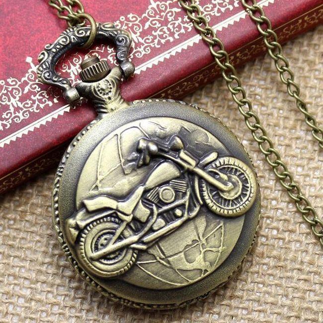 Kapesní hodinky s pánskými motivy - motorka 1