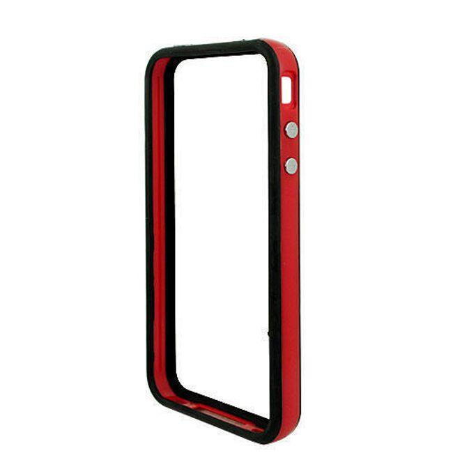 Decentní plastový ochranný rámeček pro Apple iPhone 4/4S - červený 1