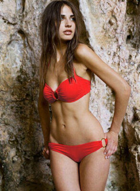Dvoudílné plavky - červené 1
