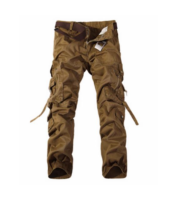 Pánské kalhoty s kapsami - Hnědá - 8 1