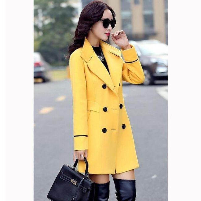 Ženski kaput sa dugmićima - 4 boje 1