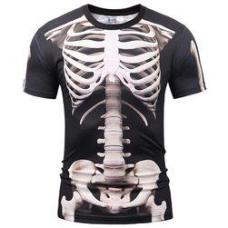Muška majica sa printom kostura