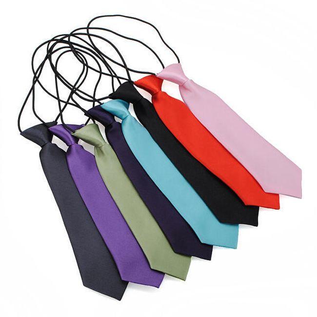 Dětská textilní kravata na gumičce - na výběr ze 3 barev 1