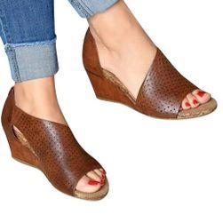 Damskie sandały na koturnie Marika