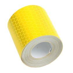 Светоотражающая клеящаяся лента - 3 м. желтый/белый цвет