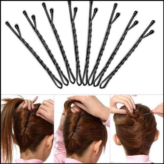 Komplet metalowych spinek do włosów - 50 sztuk 1