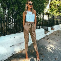 Spodnie damskie z kokardką - 3 warianty
