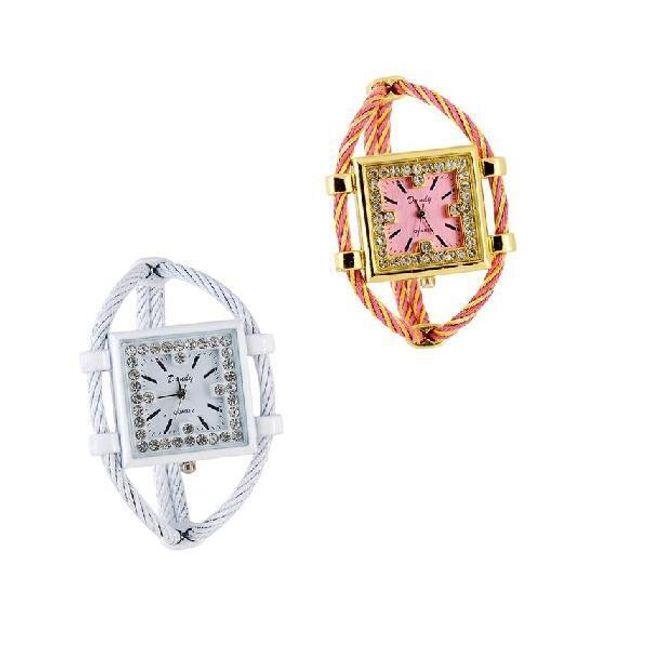 Originální dámské hodinky s hranatým ciferníkem - ve 2 barevných provedeních 1