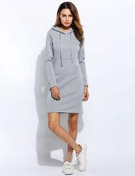 Hanorac lung tip rochie - diverse culori