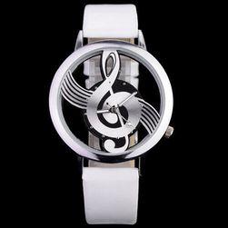 Analogové hodinky - ciferník houslový klíč