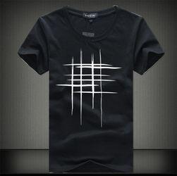 Tricou pentru bărbați cu imprimeu elegant în grilă - 5 culori