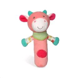 Boldog farm síp a tehén kezében RW_44314