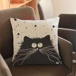 Povlak na polštář s bláznivými kočkami - 4