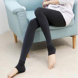 Meleg téli leggings - fekete szín