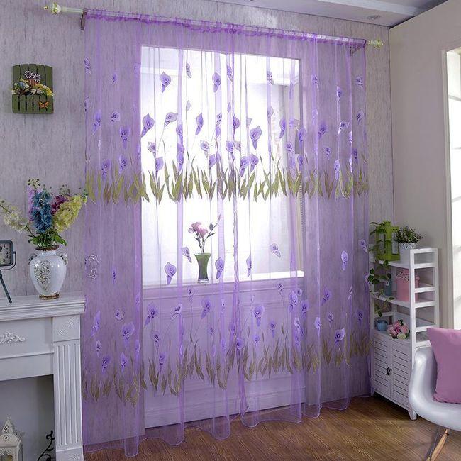 Zavesa sa cvetovima kale - 4 boje 1
