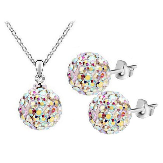 Komplet ogrlic in uhanov z kroglicami 1