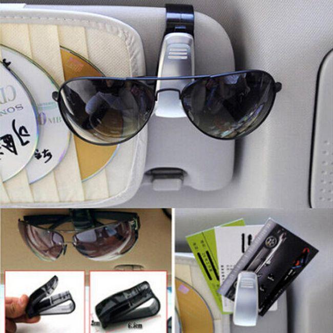 Műanyag klip napszemüveghez az autóban 1