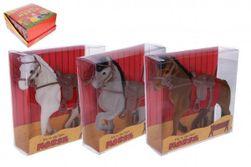 Kôň sa sedlom flíska 16cm 3 farby v krabičke 16x16x5,5cm 12ks v boxe RM_49114582