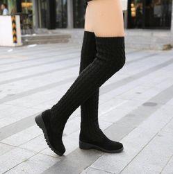 Cizme tricotate deasupra genunchilor - 2 culori