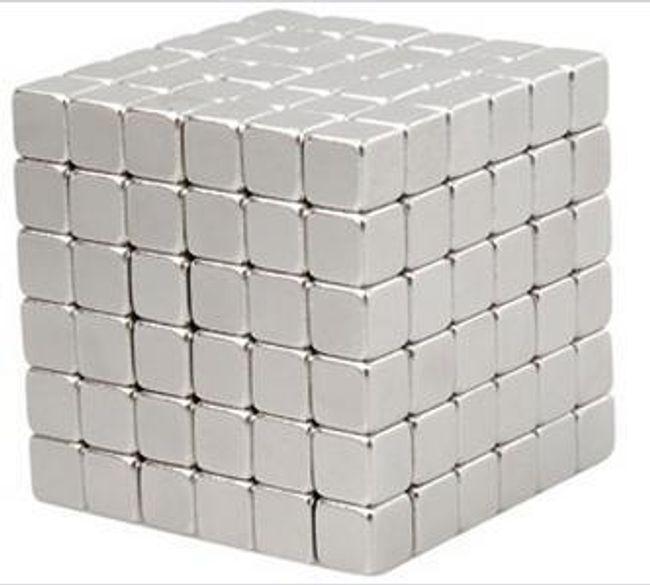 Magic Cube magnetická stavebnice - 125 ks magnetů 1