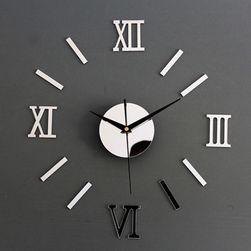Залепящ се часовник за стена с огледален ефект