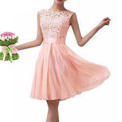 Dámské letní šaty s krajkovým topem - mix barev