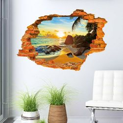 3D zidna nalepnica - Plaža na zalasku sunca