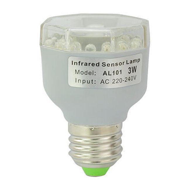 3W LED żarówka z IR czujnikiem ruchu 1
