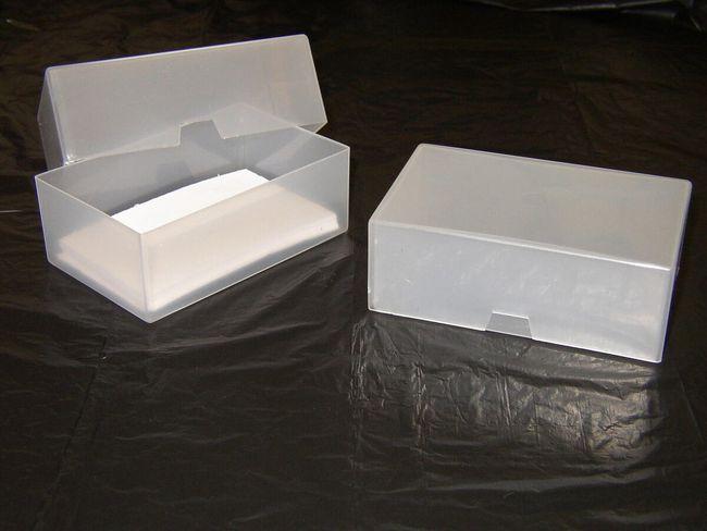 Plastová krabička na vizitky - 5 kusů 1