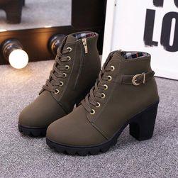 Kotníkové boty na podpatku - 4 barvy