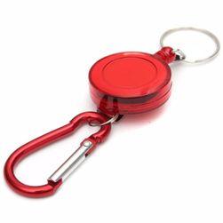 Karabińczyk do kluczy z linką samozwijającą