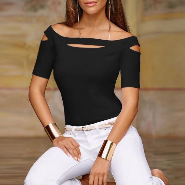 Дамска тениска с къси ръкави Emmeline 1