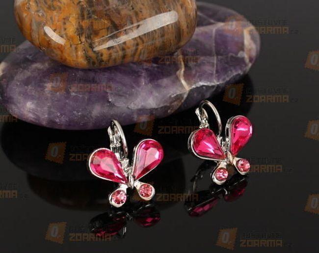 Fülbevaló pillangó  alakú kövekkel 1