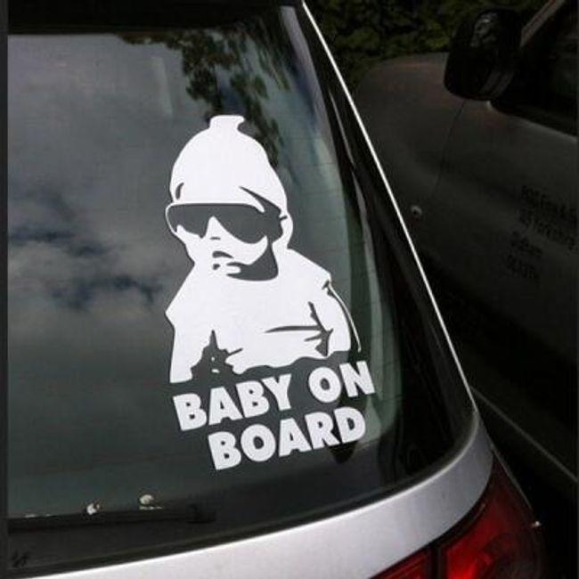 Autocolant auto original  - Baby on board 1