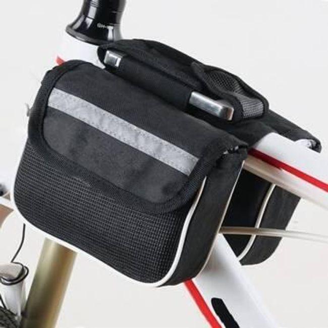 Torbica za okvir kolesa - črna 1