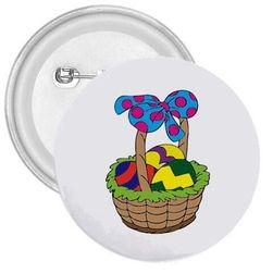 Przypinka - Koszyk z pisankami