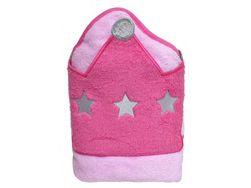Dětská osuška s kapucí růžová TK_0186047