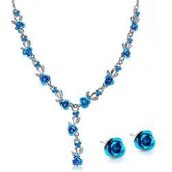 Sada šperků ve tvaru květů