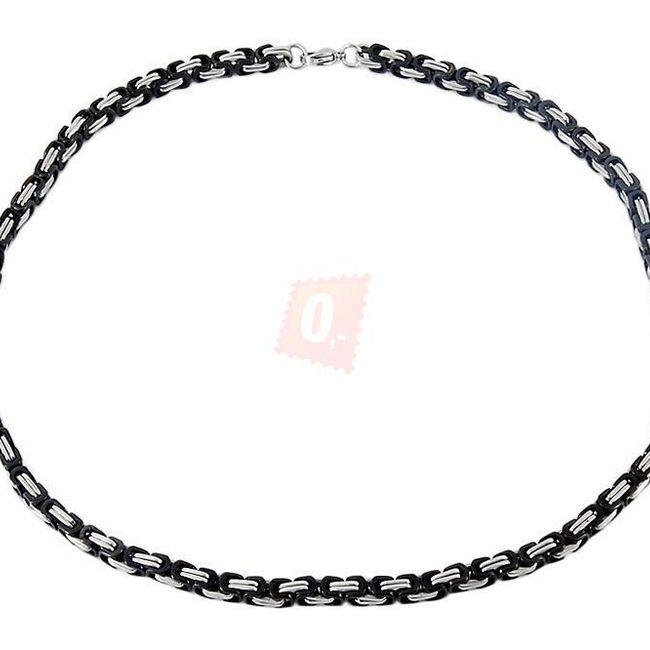 Náhrdelník, 55cm - černý 1