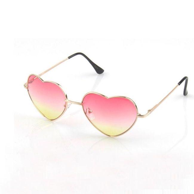Stylové dámské brýle ve tvaru srdce 1