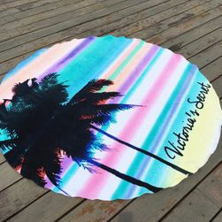Kruhová osuška na pláž - palma
