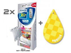 2x ODOR ABSORBER  + Papírový osvěžovač vzduchu - Vanilla