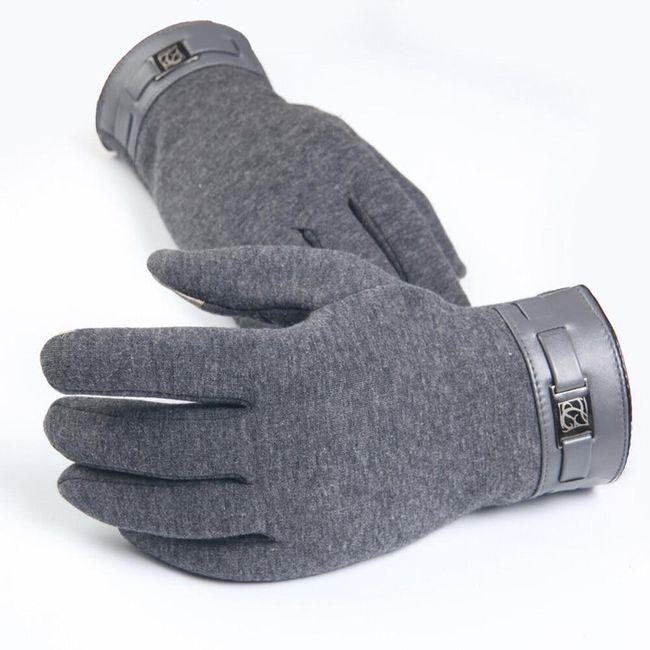 Pánské zimní rukavice na dotykový telefon Leo 1