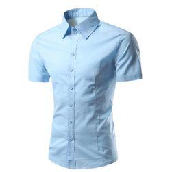 Pánská košile s krátkým rukávem - 3 barvy, 4 velikosti